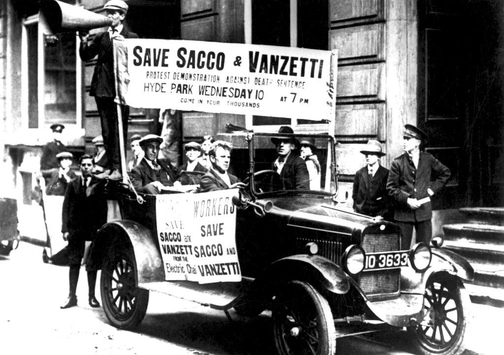 Proteste gegen das Todesurteil für Sacco und Vanzetti